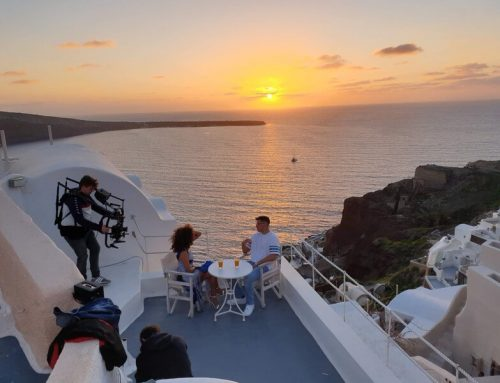 Dardan's video shoot in Santorini for his new single