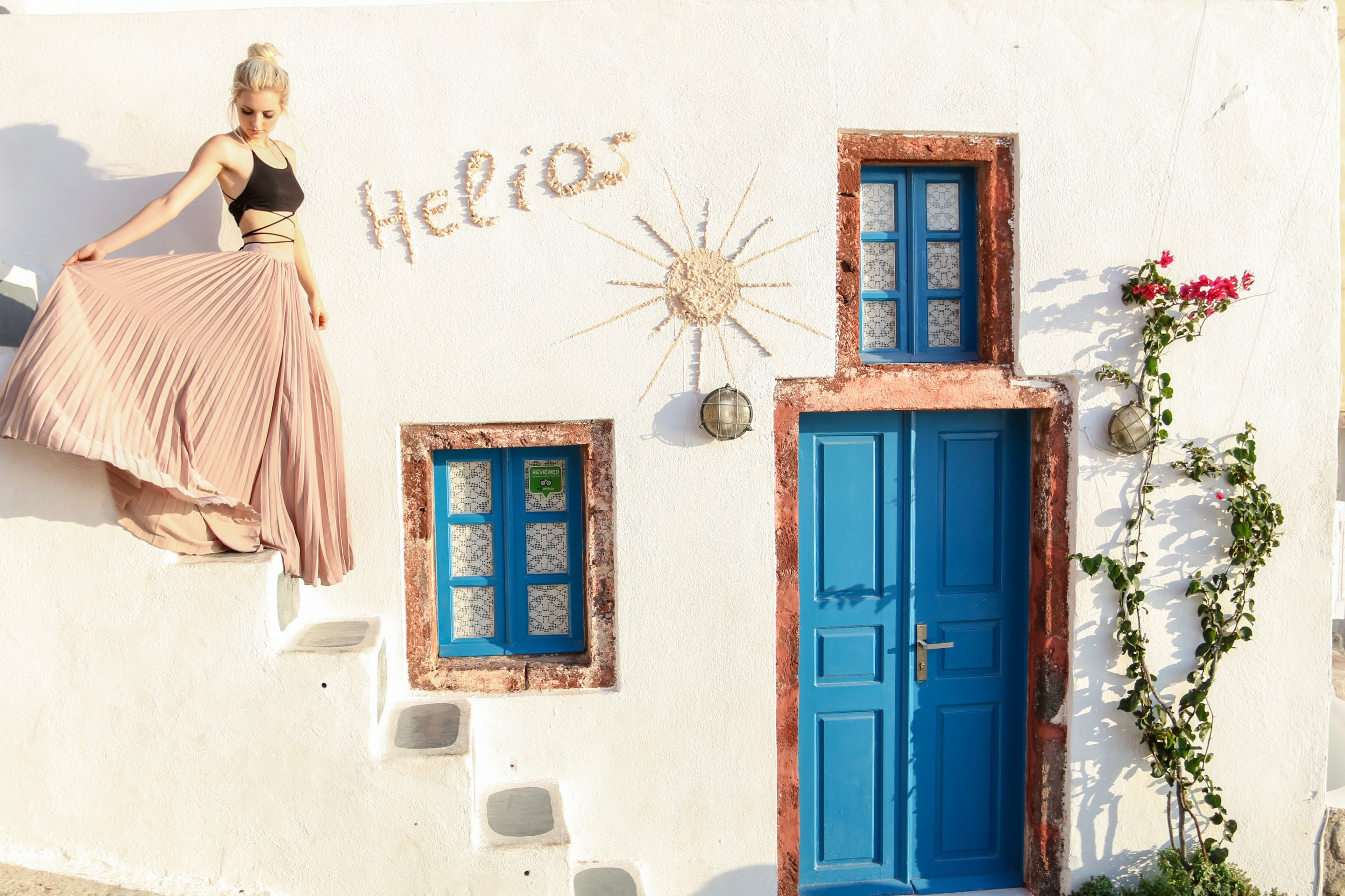 Our dear guest Aspyn comes back to Santorini Paradise Cave Houses